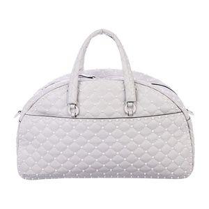 Valentino Bags - Valentino Rockstud White Leather Bowler Bag